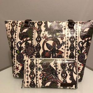Sakroots Spirit Desert Handbag and Wallet Combo